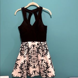 Black and White Homecoming Dress